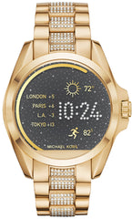 Michael Kors Watch Access Bradshaw Gold Tone CZ Smartwatch