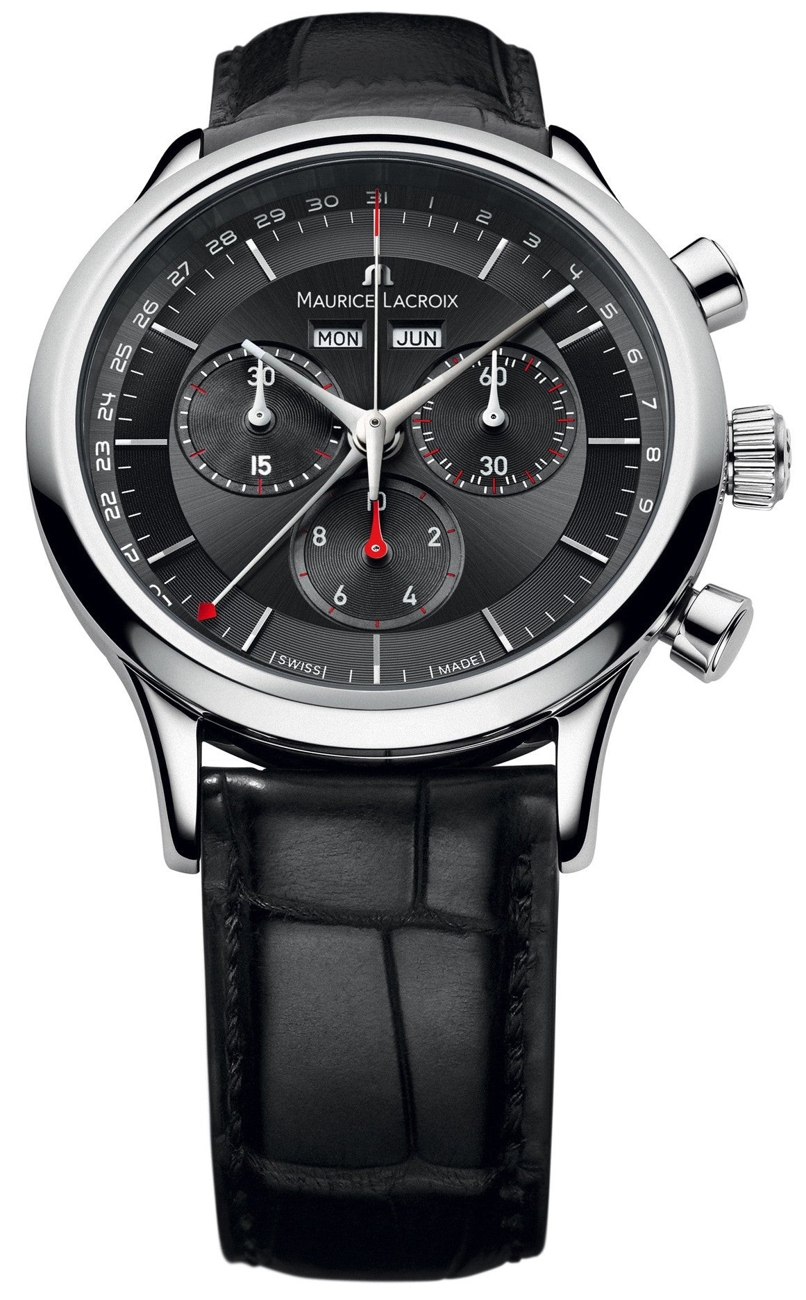 Maurice lacroix watch les classiques day date month chrono lc1228 ss001 330 watch for Maurice lacroix watches