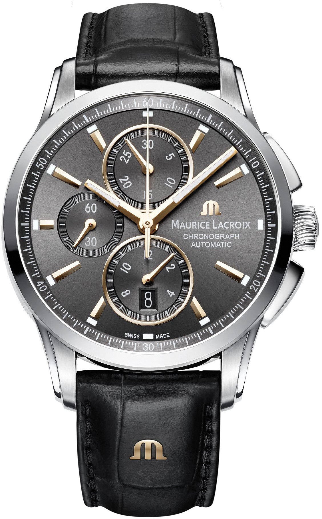 Maurice lacroix watch pontos chronograph mens pt6388 ss001 331 1 watch for Maurice lacroix watches