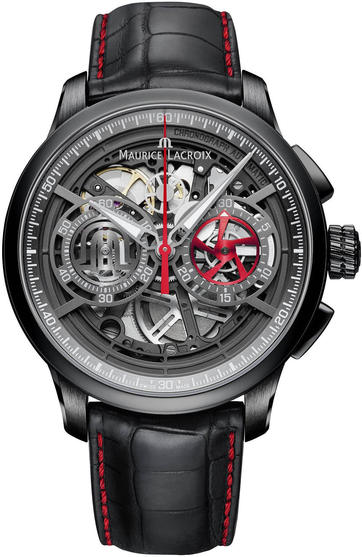 Maurice Lacroix Watch Masterpiece Skeleton Chronograph Mens