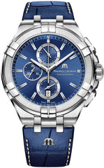 Maurice Lacroix Watch Aikon Chronograph Blue Mens