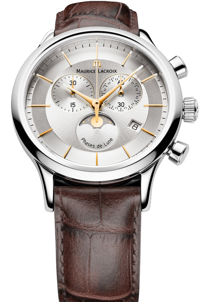 Maurice lacroix watch les classiques moonphase chrono mens lc1148 ss001 132 1 watch for Maurice lacroix watches