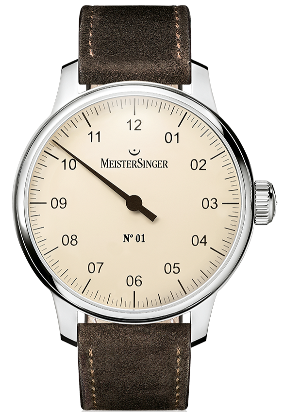 MeisterSinger Watch N. 01 Mens Suede Dark Brown