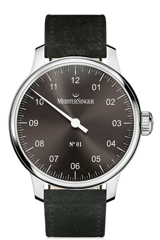 MeisterSinger Watch N. 01 Mens Suede Black