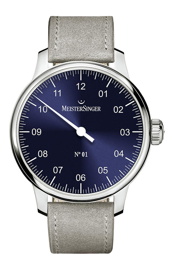 MeisterSinger Watch N. 01 Mens Suede Grey