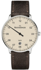 MeisterSinger Watch Neo Plus Suede Brown