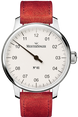 MeisterSinger Watch N.01 Silver White DM301 Suede Red