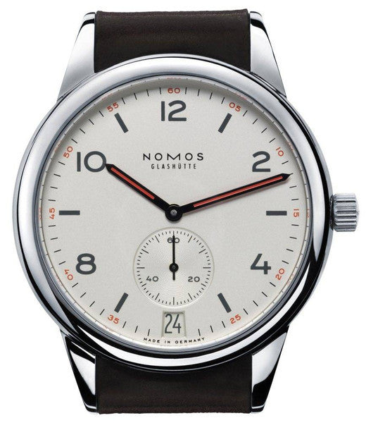 Nomos Glashutte Watch Club Datum Automatic Steel Back
