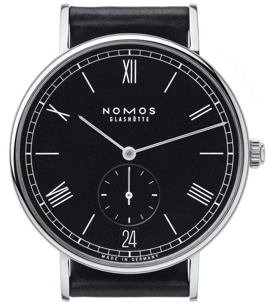 Nomos Glashutte Ludwig Automatic Datum Anthracite Glasboden D