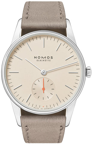 Nomos Glashutte Watch Orion 33 Champagne Sapphire Crystal