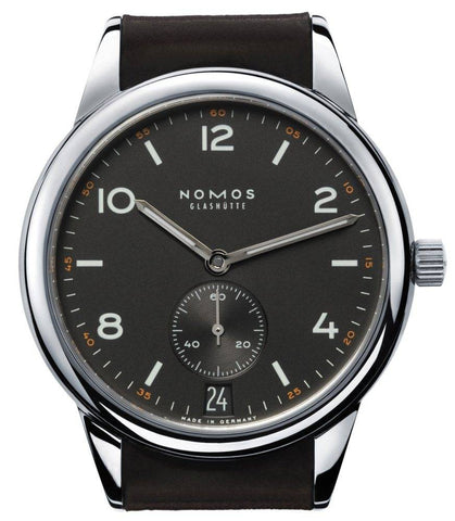 Nomos Glashutte Watch Club Automatic Datum Dunkel Glass Back