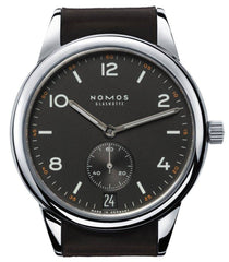 Nomos Glashutte Watch Club Automatic Datum Dunkel Sapphire Crystal