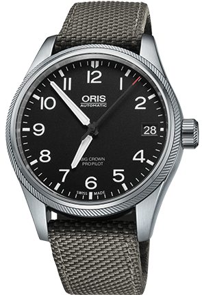 Oris Watch Big Crown ProPilot Date Grey Textile