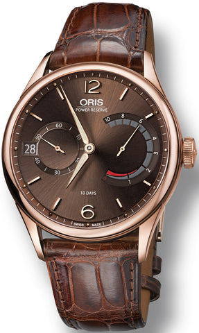 Oris Watch Calibre 111 Rose Gold Leather