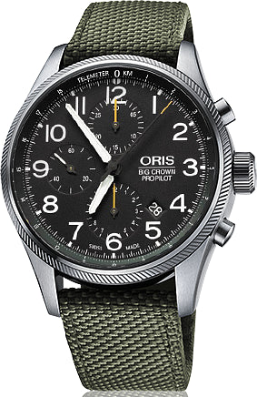 Oris Watch Big Crown ProPilot Chronograph Olive Textile