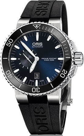 Oris Watch Aquis Date Small Second Rubber