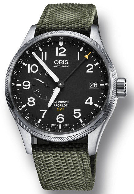 Oris Watch Big Crown Propilot GMT Olive Textile