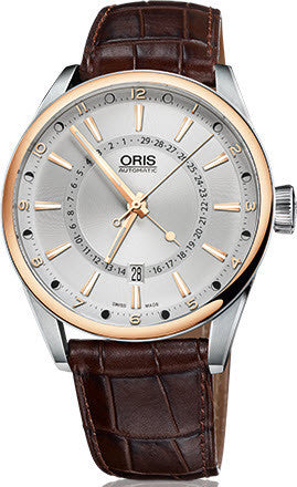 Oris Watch Artix Pointer Moon Bicolor Leather