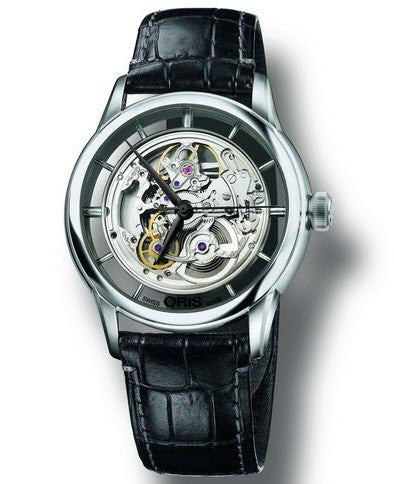 Oris Watch Artelier Translucent Skeleton Leather
