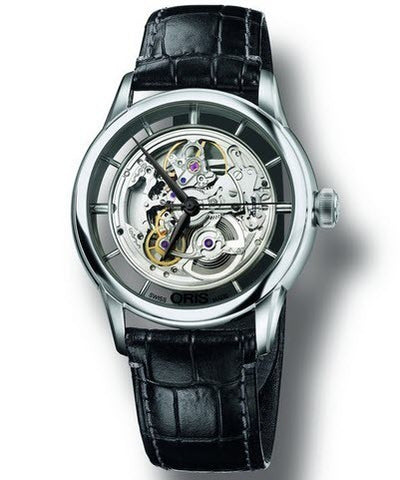 Oris Watch Artelier Translucent Skeleton Crocodile