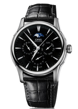 Oris Watch Artelier Complication Crocodile
