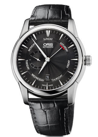Oris Watch Artelier Small Second Pointer Day Leather