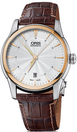 Oris Watch Artelier Date Diamonds Leather