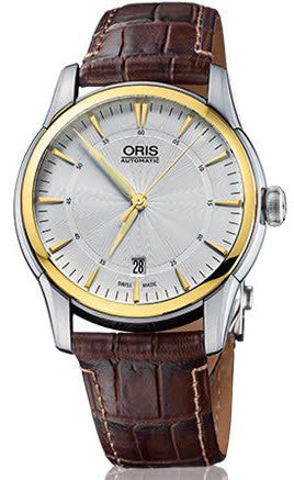 Oris Watch Artelier Date Diamonds Crocodile