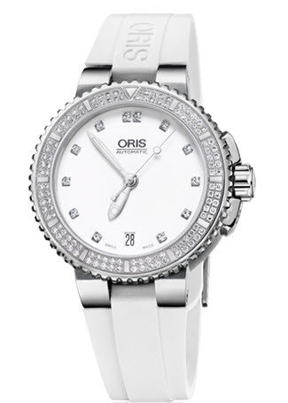 Oris Watch Aquis Date Diamonds Rubber