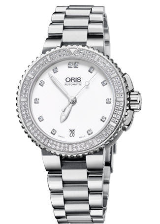 Oris Watch Aquis Date Diamonds Bracelet