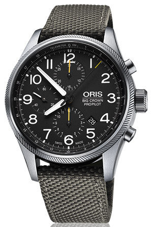 Oris Watch Big Crown ProPilot Chronograph Grey Textile