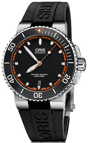 Oris Watch Aquis Date Rubber Black