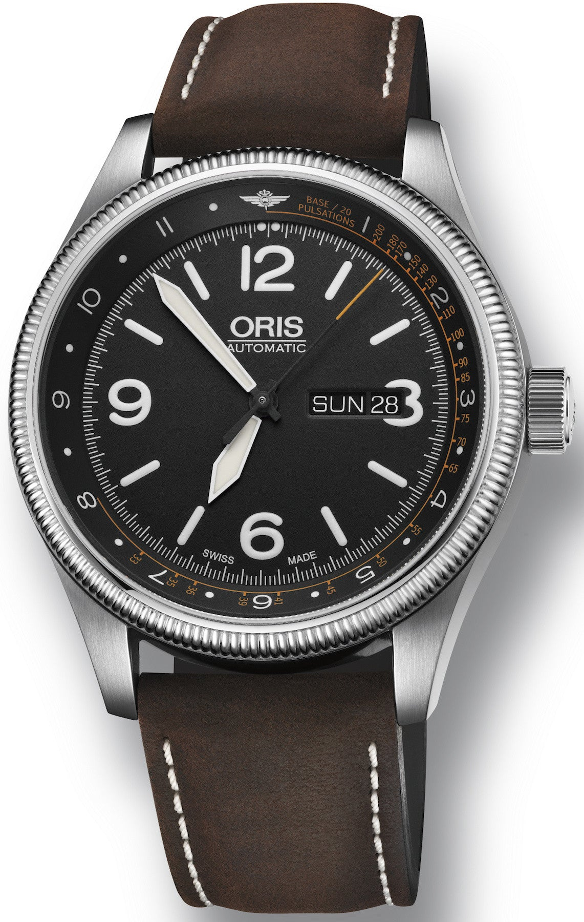 mens watches oris crown date watch propilot big p chronograph