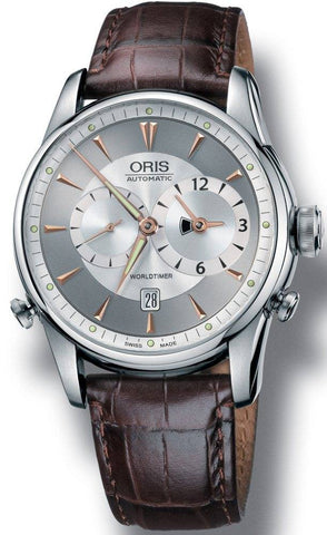 Oris Watch Artelier Worldtimer Leather D