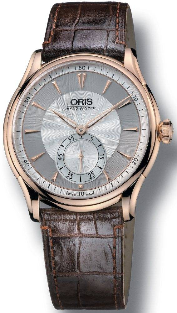 Oris Watch Artelier 18K Rosegold Leather D