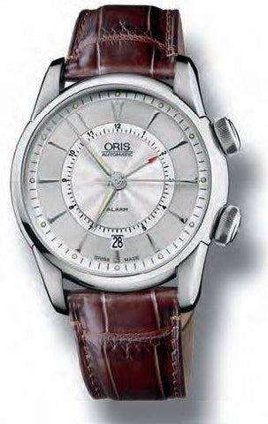 Oris Watch Artelier Alarm Crocodile