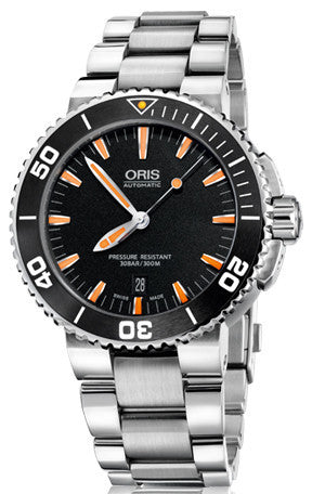 Oris Watch Aquis Date Dark Black Bracelet