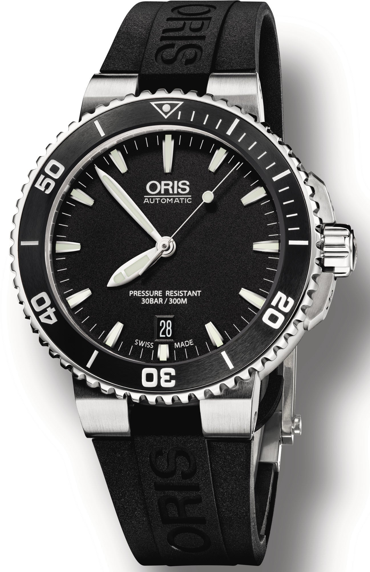 Oris Watch Aquis Date Black Rubber D
