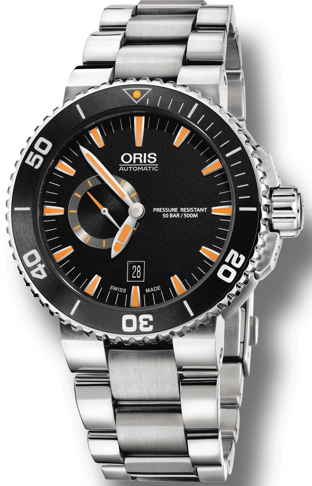 Oris watch aquis date small second black bracelet 01 743 7673 4159 07 8 26 01peb watch for Oris watches