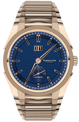 Parmigiani Fleurier Watch Tonda GT Rose Gold Blue Bracelet