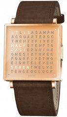 QLOCKTWO Watch W35 Fine Copper Leather