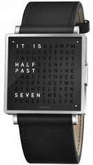 QLOCKTWO Watch W35 Pure Black Leather