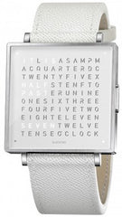 QLOCKTWO Watch W39 Pure White Leather