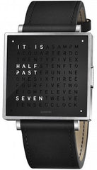 QLOCKTWO Watch W39 Pure Black Leather