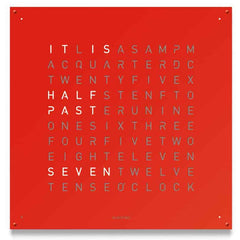 QLOCKTWO 180 Red Pepper Wall Clock 180cm