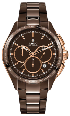 Rado Watch Hyperchrome Brown Ceramic Automatic Chronograph