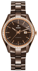 Rado Watch Hyperchrome Brown Ceramic Automatic 56 Diamonds Limited Edition