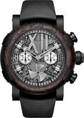 RJ Watches Steampunk Black Rusted Metal