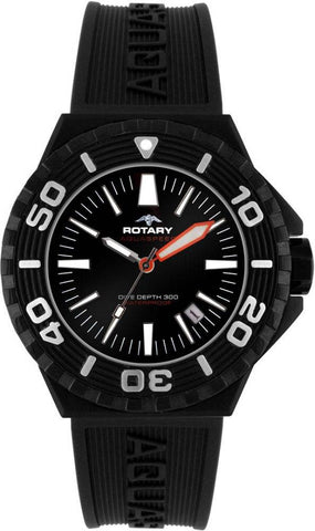 Rotary Gents Black IP Strap D