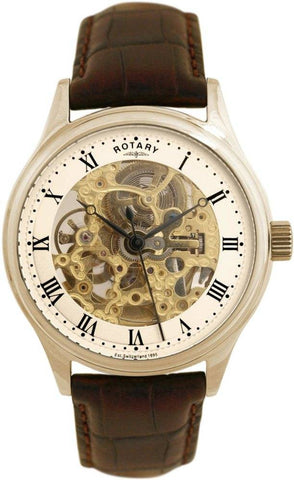 Rotary Watch Gents Strap Gold Plate